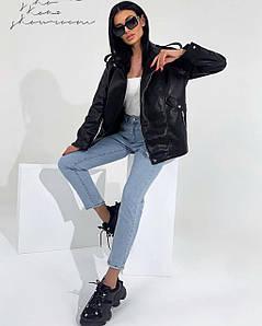 Жіноча куртка-косуха подовженого крою. Фабричний Китай. Розмір: S, M. Тканина: екошкіра.