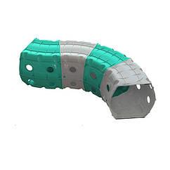 """Ігровий тунель DOLONI-TOYS """"Тунель 4 секції"""" 01471 (Блакитний з сірим)"""