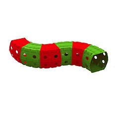 """Ігровий тунель DOLONI-TOYS """"Тунель 6 секцій"""" 01472 (Зелений з червоним)"""