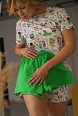 """Женская прикольная пижама с яркой футболкой и тремя шортами """"Любовь - это..."""" на подарок любимой девушке/жене, фото 2"""