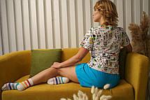 """Женская прикольная пижама с яркой футболкой и тремя шортами """"Любовь - это..."""" на подарок любимой девушке/жене, фото 3"""