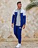 Чоловічий прогулянковий спортивний костюм: кофта з капюшоном і штани з манжетами, фото 3