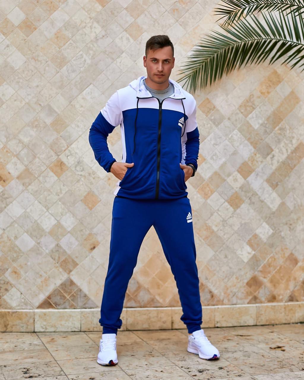 Чоловічий прогулянковий спортивний костюм: кофта з капюшоном і штани з манжетами