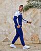 Чоловічий прогулянковий спортивний костюм: кофта з капюшоном і штани з манжетами, фото 8