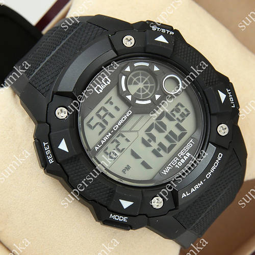 Популярные спортивные наручные часы Q&Q m145j002y 1052-0015