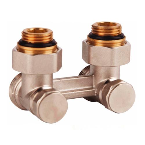 SD FORTE Кран для стальных радиаторов угловой буксовый 3/4х1/2