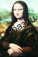 """Схема для частичной вышивки """"Мона Лиза"""""""