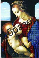 """Схема для частичной вышивки """"Мадонна с младенцем"""""""
