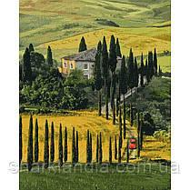 Картина по номерам Путешествие в Тоскану 40х50 см Идейка KHO2297 Пейзаж