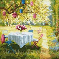 Картина по номерам Весенние фонарики 50х50см Идейка KHO2299 Большой размер