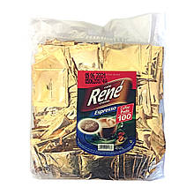 Rene Espresso100 шт кофе в чалдах для Philips Senseo