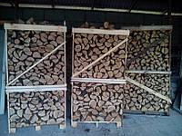 Дрова дуб колотые в ящиках + доставка