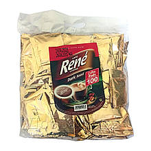 Rene Dark 100 шт кофе в чалдах для Philips Senseo