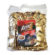 Rene Brasil Arabica 100 шт кофе в чалдах для Philips Senseo