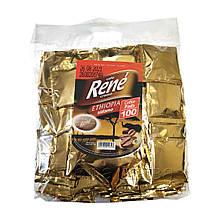 Rene Ethiopia Arabica 100 шт кофе в чалдах для Philips Senseo