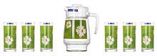 Набір для води Luminarc Paquerette Green (глечик 1,6 л+ стакани 270мл-6шт) 7 предметів скло (1982G)