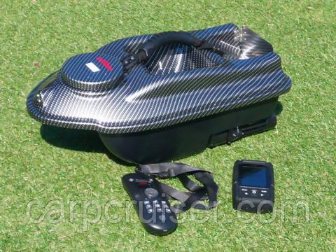 Карповый кораблик для завоза априкормки Actor Carbon 10AF7-С-GPS навигация автопилот память 16 точек стационарно установленный цветной эхолот Lucky FF718-LiC-W