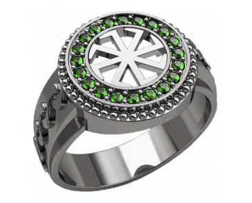 Кольцо серебряное Коловрат 30227
