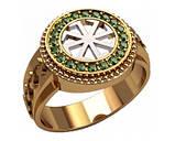 Кольцо серебряное Коловрат 30227, фото 2