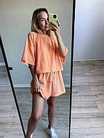 "Велюровая короткая женская футболка ""VELOURS"" на шнурке"
