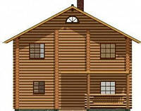 Дом из дикого сруба 8,4x7