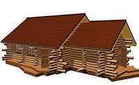 Дом из дикого сруба 12,9x6,3