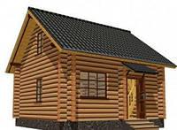 Дом из дикого сруба 6,4x5,4