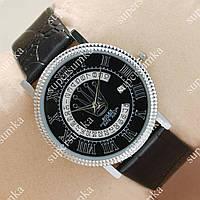 Кварцевые наручные часы Rolex Slim Silver/Black 2005