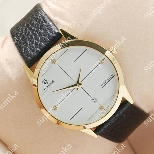 Классические наручные часы Rolex Slim Gold/White 2006