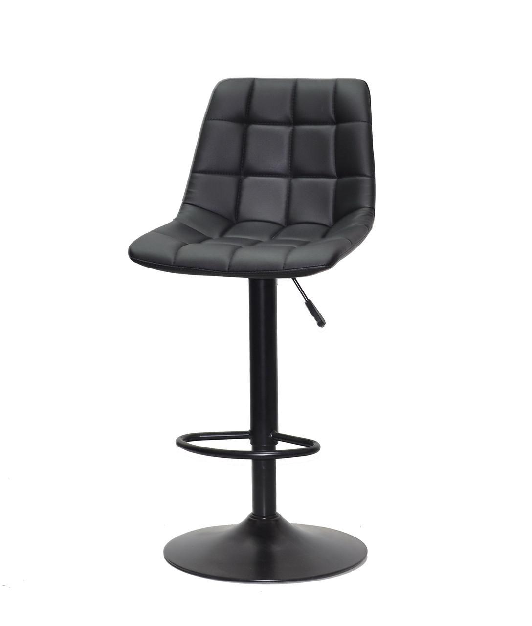 Барное кресло на черном основании черная эко-кожа Robin Bar BK - Base, кресло в салон, кресло мастера