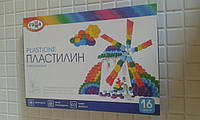 Пластилин Гамма Классический 16 цветов 320 г