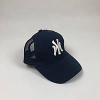 Кепка Бейсболка Тракер з сіткою New York Yankees NY Темно-синя