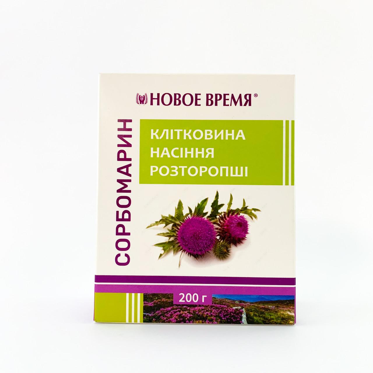 Клетчатка семян расторопши Сорбомарин, 200 г, Новое Время