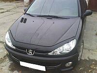 Дефлектор капота (мухобойка) Peugeot 206 1998-