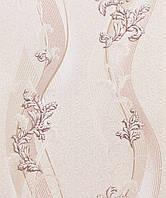Обои для гостиной виниловые на бумажной основе LS Дания Декор бежевый ВКС 2-1310 (0,53х10,05 м)