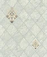 Супермойка серые обои в кухню LS Дарио светло-серо-мятные МНК3-1055 (0,53х10.05 м)