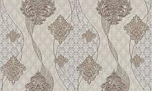 Обои орнамент, Метровые бежевые обои LS Эйрис ДХС-1453/3 (1,06 х10,05м)