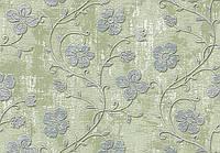 Обои для гостиной виниловые на бумажной основе LS Лиана Декор салатово-серебристый ВКП3-1177 (10,05х0,53м)