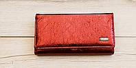 Гаманець жіночий зроблений зі штучної шкіри бордо, фото 1