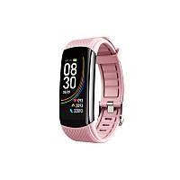Фитнес-браслет Lemfo C6T с датчиком температуры тела и Bluetooth 4.0 розовый