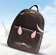 Рюкзак жіночий міський модний. Підлітковий рюкзак для дівчини чорний 1451103936