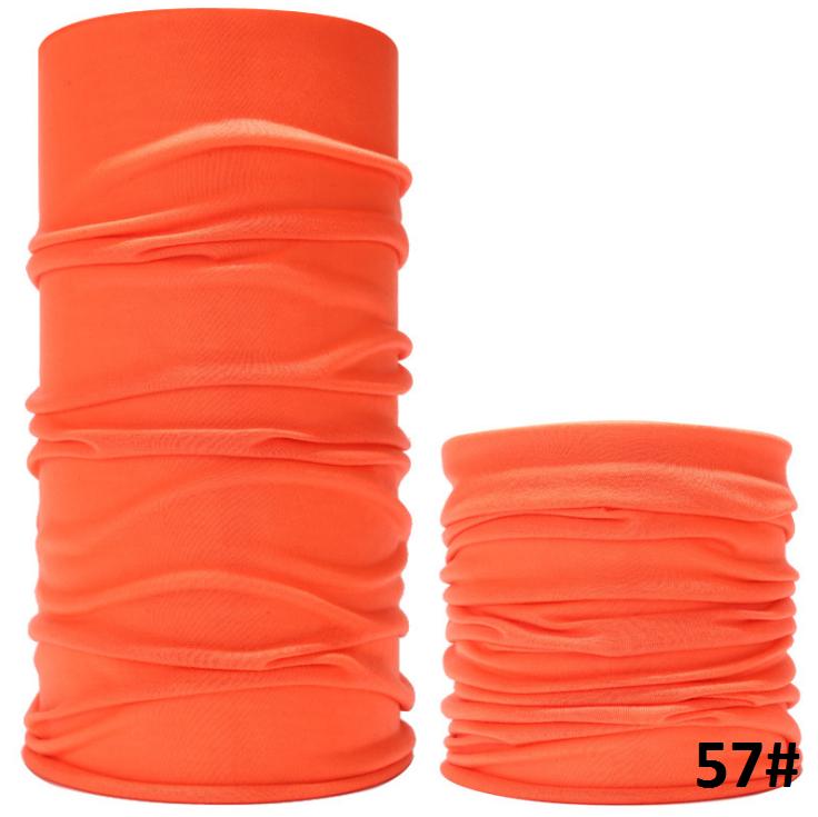 Бафф однотонний помаранчевий. Багатофункціональний безшовний шарф бандана літній баф для лиця. Принт_57#