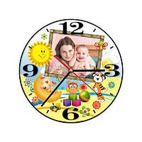 Часы настенные с Вашей фотографией (модель № 1Д)