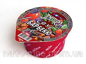 Соус ТМ Дніпро Барбекю BBQ 50г. Порционная упаковка дип-пак. Соусы в маленькой упаковке.