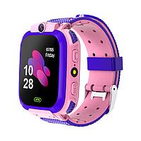 Детские смарт-часы W23 с GPS и трекером активности для для Android и IOS розовые