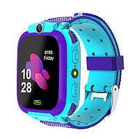 Детские смарт-часы W23 с GPS и трекером активности для для Android и IOS голубые