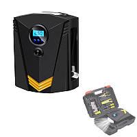Аавтомобильный компрессор CZK-3634 12В цифровой насос для шин с инструментами