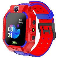 Детские смарт-часы W39 с поддержкой Sim-карты камерой и GPS красные