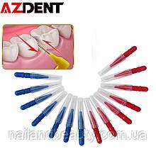 Azdent, для взрослых, межзубная щетка, для чистки зубов, зубная нить, push pull, для чистки зубов, зубные