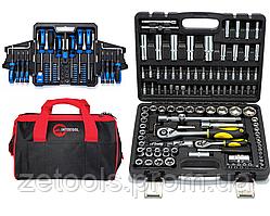 Набор отверток, бит и головок 63 ед. Profline 69163+ Набор инструментов 108 ед. Сталь+ сумка для авто